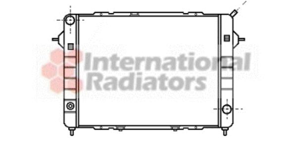Radiateur, refroidissement du moteur - VAN WEZEL - 37002098
