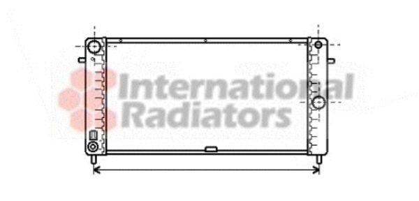 Radiateur, refroidissement du moteur - VAN WEZEL - 37002106