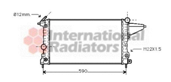 Radiateur, refroidissement du moteur - VAN WEZEL - 37002117