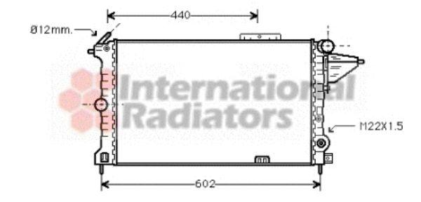 Radiateur, refroidissement du moteur - VAN WEZEL - 37002119