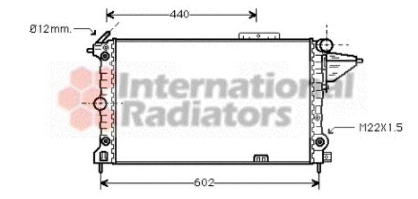 Radiateur, refroidissement du moteur - VAN WEZEL - 37002120