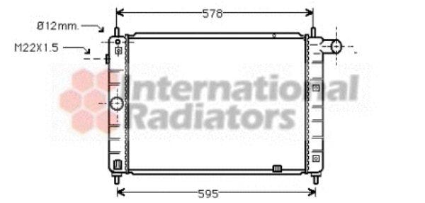Radiateur, refroidissement du moteur - VAN WEZEL - 37002122