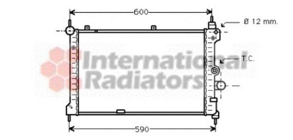 Radiateur, refroidissement du moteur - VAN WEZEL - 37002127