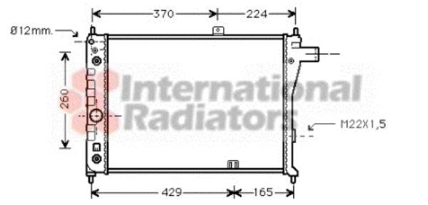 Radiateur, refroidissement du moteur - VAN WEZEL - 37002128