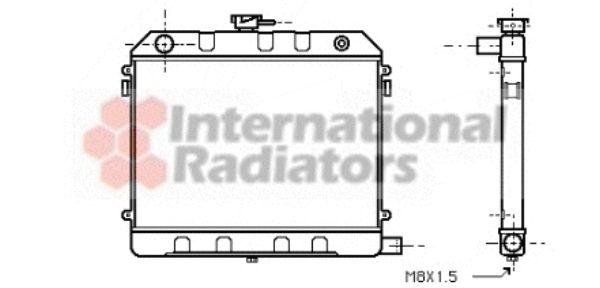 Radiateur, refroidissement du moteur - VAN WEZEL - 37002130