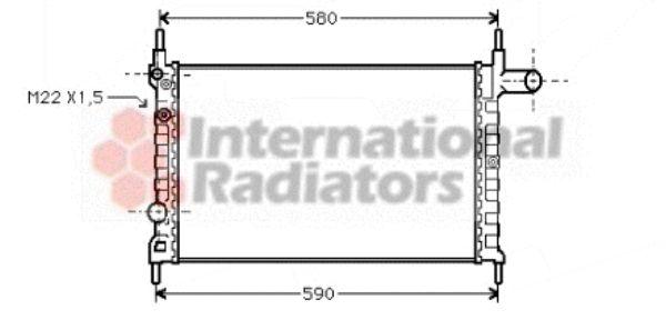 Radiateur, refroidissement du moteur - VAN WEZEL - 37002150