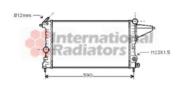 Radiateur, refroidissement du moteur - VAN WEZEL - 37002161
