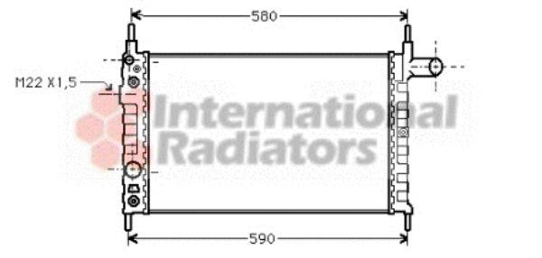 Radiateur, refroidissement du moteur - VAN WEZEL - 37002163
