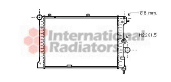 Radiateur, refroidissement du moteur - VAN WEZEL - 37002168