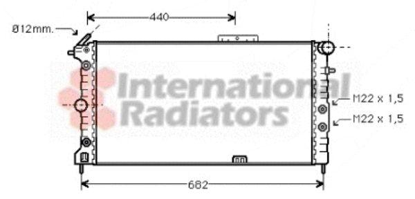 Radiateur, refroidissement du moteur - VAN WEZEL - 37002173