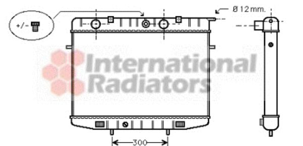 Radiateur, refroidissement du moteur - VAN WEZEL - 37002175