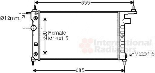 Radiateur, refroidissement du moteur - VAN WEZEL - 37002184
