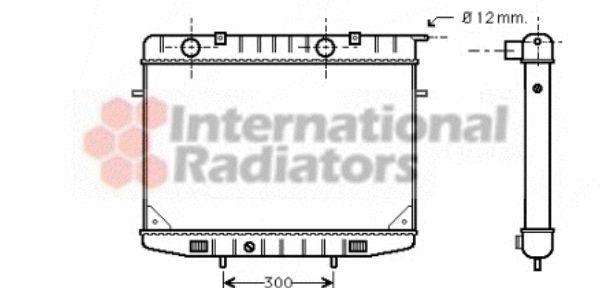 Radiateur, refroidissement du moteur - VAN WEZEL - 37002188