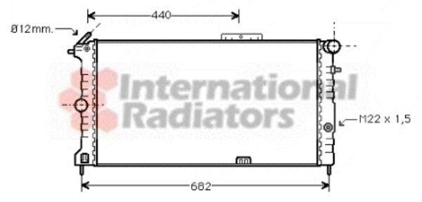 Radiateur, refroidissement du moteur - VAN WEZEL - 37002190