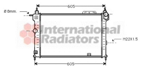 Radiateur, refroidissement du moteur - VAN WEZEL - 37002191