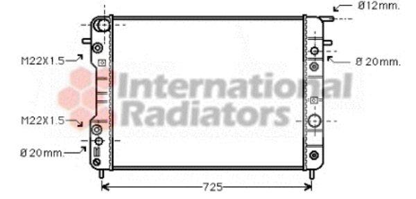 Radiateur, refroidissement du moteur - VAN WEZEL - 37002193