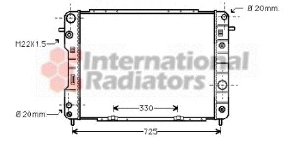 Radiateur, refroidissement du moteur - VAN WEZEL - 37002198