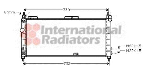 Radiateur, refroidissement du moteur - VAN WEZEL - 37002200