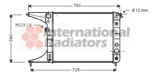Radiateur, refroidissement du moteur - VAN WEZEL - 37002201