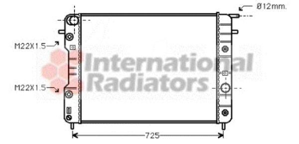 Radiateur, refroidissement du moteur - VAN WEZEL - 37002202