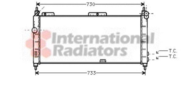 Radiateur, refroidissement du moteur - VAN WEZEL - 37002203