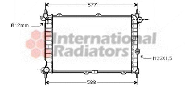 Radiateur, refroidissement du moteur - VAN WEZEL - 37002207