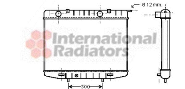 Radiateur, refroidissement du moteur - VAN WEZEL - 37002213