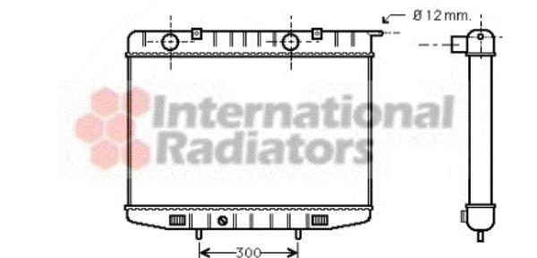 Radiateur, refroidissement du moteur - VAN WEZEL - 37002214