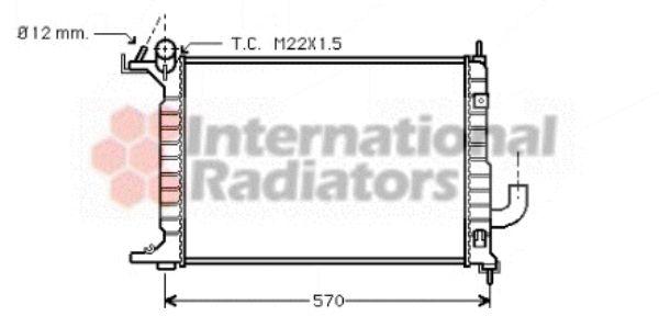 Radiateur, refroidissement du moteur - VAN WEZEL - 37002218