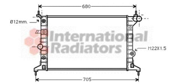 Radiateur, refroidissement du moteur - VWA - 88VWA37002219