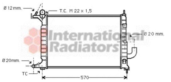 Radiateur, refroidissement du moteur - VAN WEZEL - 37002221