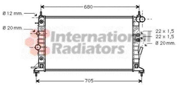 Radiateur, refroidissement du moteur - VAN WEZEL - 37002222