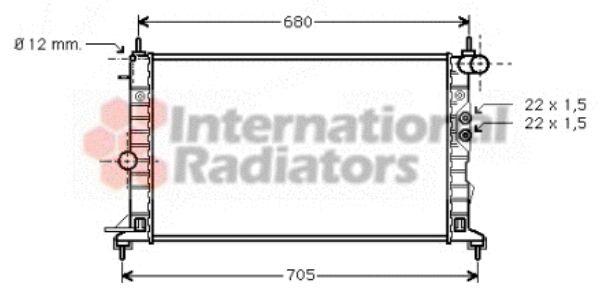 Radiateur, refroidissement du moteur - VAN WEZEL - 37002244
