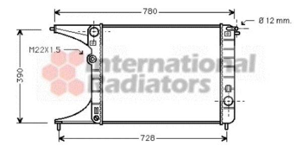 Radiateur, refroidissement du moteur - VAN WEZEL - 37002245