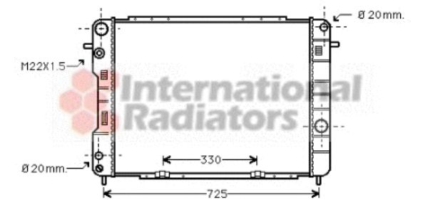 Radiateur, refroidissement du moteur - VAN WEZEL - 37002246