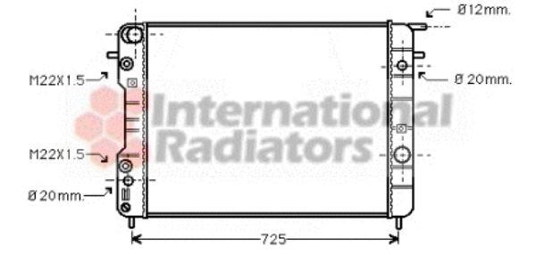 Radiateur, refroidissement du moteur - VAN WEZEL - 37002247
