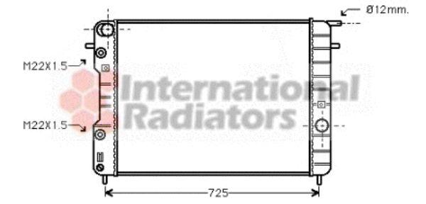 Radiateur, refroidissement du moteur - VAN WEZEL - 37002248