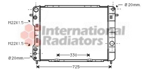 Radiateur, refroidissement du moteur - VAN WEZEL - 37002249