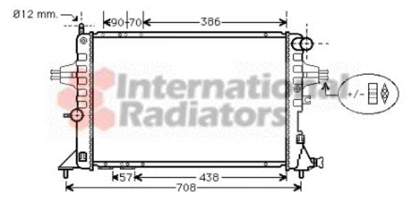 Radiateur, refroidissement du moteur - VAN WEZEL - 37002252