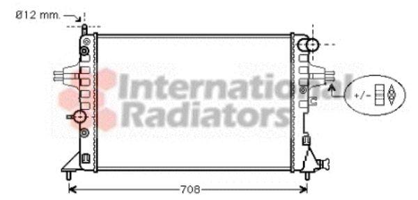 Radiateur, refroidissement du moteur - VAN WEZEL - 37002254