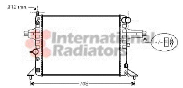 Radiateur, refroidissement du moteur - VAN WEZEL - 37002256