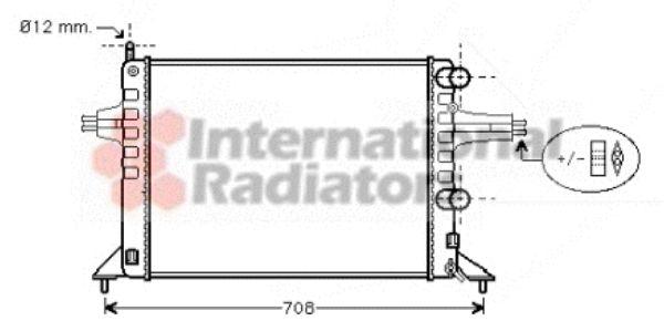 Radiateur, refroidissement du moteur - VAN WEZEL - 37002257