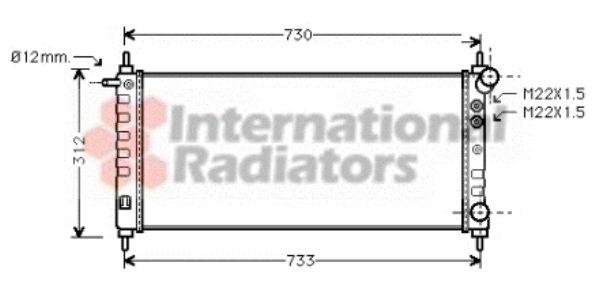 Radiateur, refroidissement du moteur - VAN WEZEL - 37002263