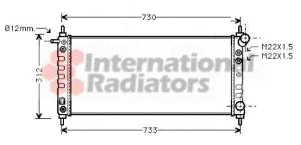 Radiateur, refroidissement du moteur - VAN WEZEL - 37002264