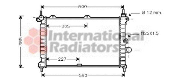 Radiateur, refroidissement du moteur - VAN WEZEL - 37002266