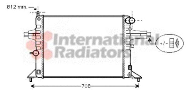 Radiateur, refroidissement du moteur - VAN WEZEL - 37002272
