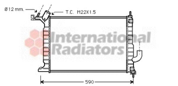 Radiateur, refroidissement du moteur - VAN WEZEL - 37002275