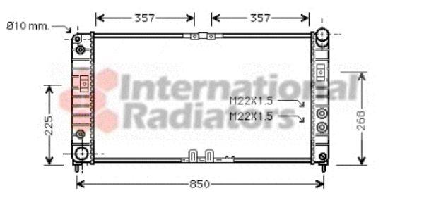 Radiateur, refroidissement du moteur - VAN WEZEL - 37002286