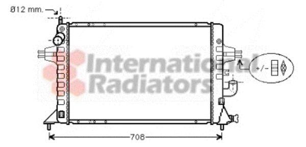 Radiateur, refroidissement du moteur - VAN WEZEL - 37002294