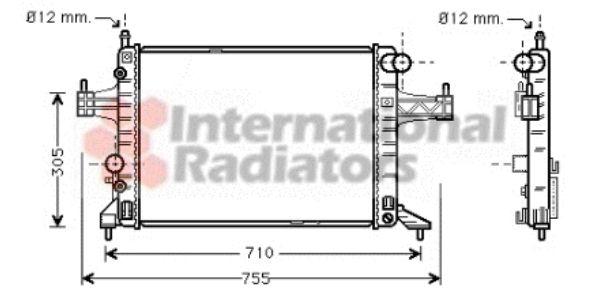 Radiateur, refroidissement du moteur - VAN WEZEL - 37002304